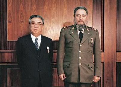 Image result for fidel castro and kim jong il