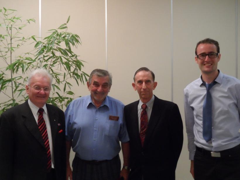 Peter Woods, Raymond Ferguson, Peter Wilson and Karim Dickie